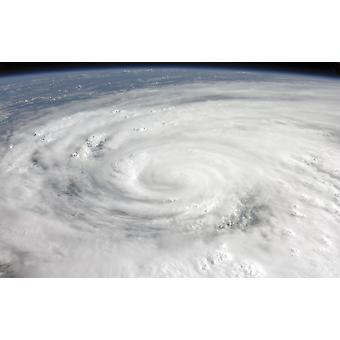 Orkanen Ike plakatutskrift