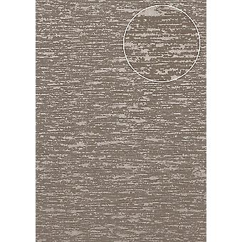 Exclusive luxury wallpaper Atlas COL-552-5 non-woven wallpaper structured in the used look shimmering Brown Brown gray beige-gray 5.33 m2