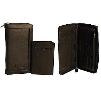 Ashwood Mens Leather Travel Wallet
