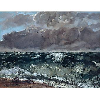 Gustave Courbet - La vague Poster Print Giclee