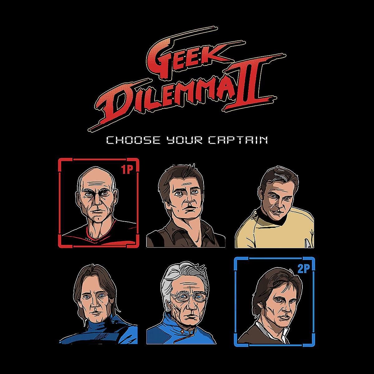 Geek Dilemma II Choose Your Captain Men's Hooded Sweatshirt
