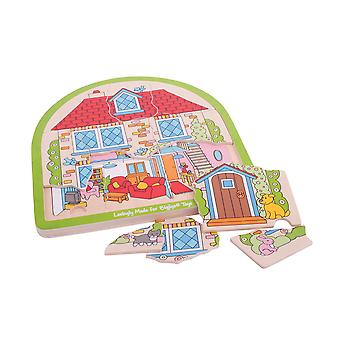 Bigjigs Toys House Arched Puzzle