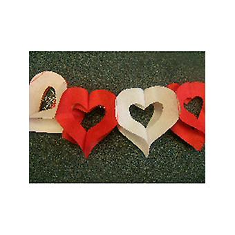 Decoration Heart's Alternate Red & White Colour Garland 3m (13ft) (1)