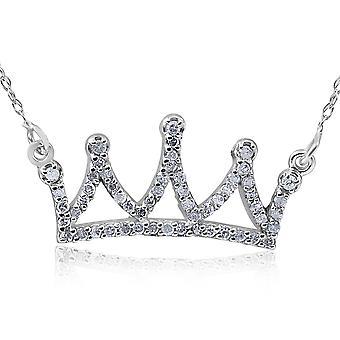 14kt White 1/6ctW Diamond Petite Crown 16.45