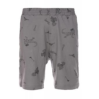 JUNK YARD Kriss Dino shorts men's leisure shorts grey print