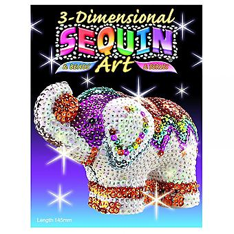 KSG paillettes Art 3D Elephant
