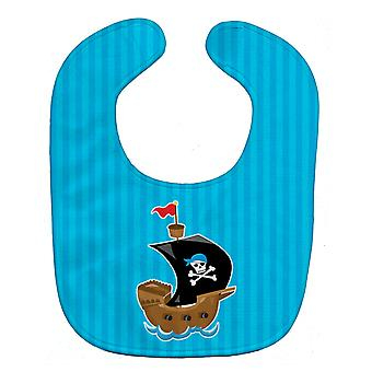 Carolines Treasures  BB8974BIB Pirate Ship blue Baby Bib