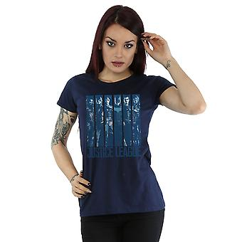 DC Comics Women's Justice League Movie Double Indigo T-Shirt