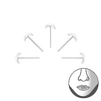 Set di 5 Luna d'argento Bend per adattarsi naso borchie - 925 Sterling Silver naso borchie - W34793x