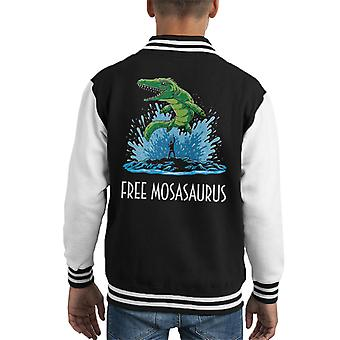 Free Mosasaurus Jurassic World Willy Kid's Varsity Jacket