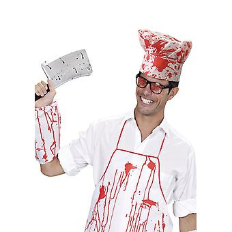 Chef Set Bloody (Hat, Apron + Sleeve)