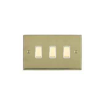 Hamilton Litestat Cheriton Victorian Polished Brass 3g 250W M-Way Touch Mast PB/WH