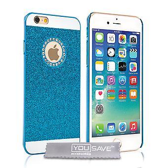 Yousave tillbehör Iphone 6 och 6s Flash Diamond Case - blå
