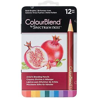 Spectrum Noir ColourBlend Pencils 12pcs-Bold Brights SPECCB-BOLD