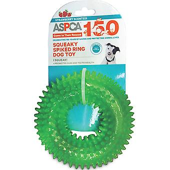 ASPCA Squeaky Spiked Ring Dog Toy-Green AS11127-GREEN