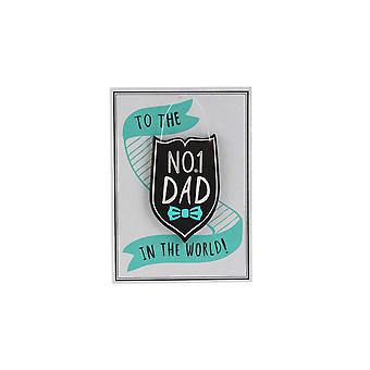 CGB Giftware No1 Dad In The World Keepsake Card
