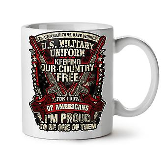 USA Military NEW White Tea Coffee Ceramic Mug 11 oz | Wellcoda