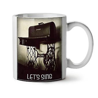 Photo Vintage Sing Retro NEW White Tea Coffee Ceramic Mug 11 oz | Wellcoda