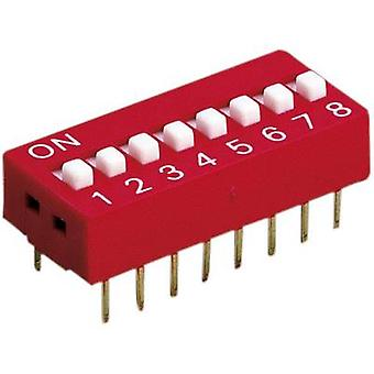 Diptronics DS-08V Multi DIP Switch 8 pole (not switched) 100 mA/50 V/DC, (switched) 50 mA/24