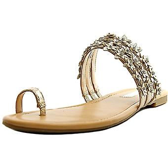 INC International Concepts Womens linaa Fabric Split Toe Casual Slide Sandals