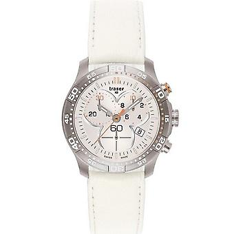 Traser H3 Ladytime silver chronograph ladies watch T7392. V5H. G1A. 08 / 100368