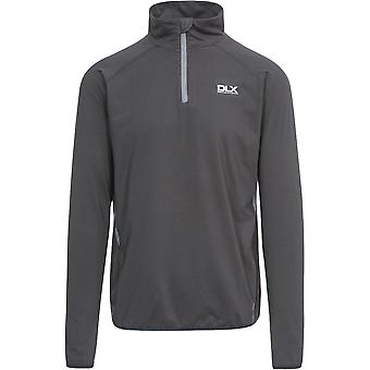 Trespass Mens Brennen Polyester Half Zip Long Sleeved Quickdry DLX Top