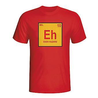 Eden Hazard Belgien periodiske T-shirt (rød)