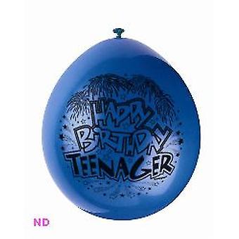 "Balloons 'HAPPY BIRTHDAY TEENAGER' 9"" Latex Balloons (10)"