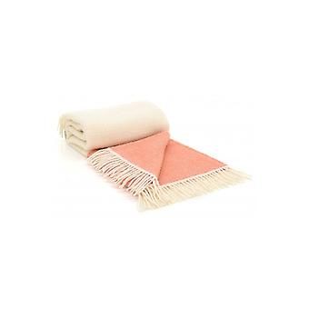 Tweedmill Pure neue wolle Illusion Panel werfen - Apricot/Creme