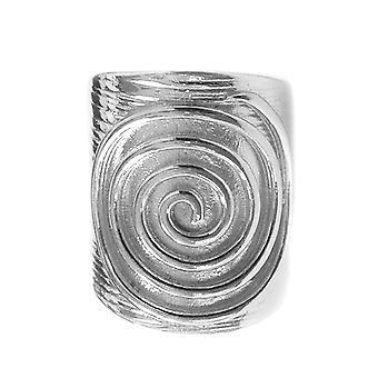 Greek Spira Eternity Pattern Adjustable Ring In Sterling Silver