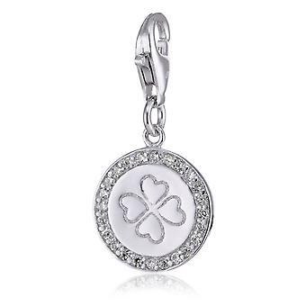 s.Oliver jewel ladies pendant charm silver four-leaf clover SOCHA/113 387132