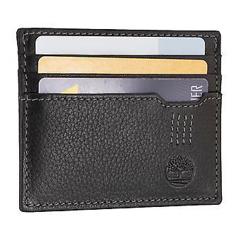 Titular de la tarjeta de crédito de Timberland hombres, sostenedor de la tarjeta, tarjeta caso negro 6702