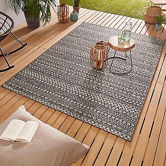 Design Outdoorteppich Web tæppe flad væve | Pine grå brun