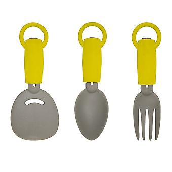 Yellowstone 3 Piece Extendable Camping Utensil Set