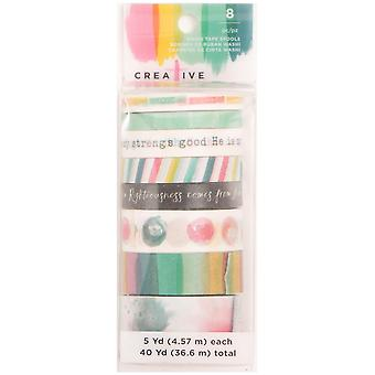 Creative Devotion Washi Tape 5Yd Rolls 8/Pkg-#4