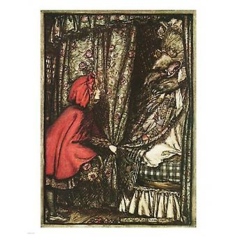 Little Red Riding Hood Poster Print by Arthur Rackham (11 x 14)