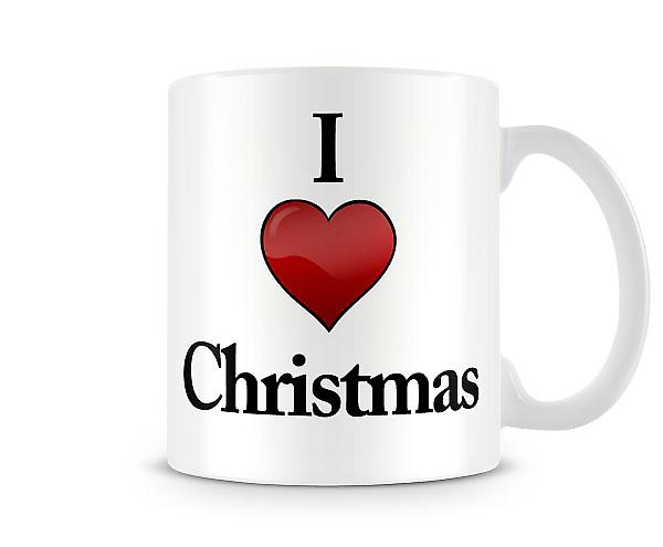 I Love Christmas Printed Mug