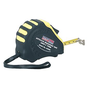 Sealey Ak994 Autolock Measuring Tape 5Mtr(16Ft) X 19Mm Metric/Imperial