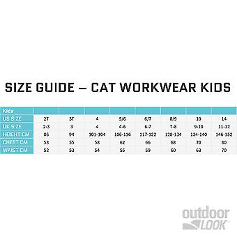 CAT Workwear Boys Crew Durable Cushioned Padded Warm Socks 3 Pack