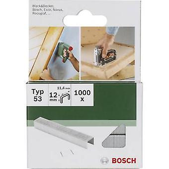 Staple type 53 1000 pc(s) Bosch Accessories 2609255823 Dimensions (L x W) 14 mm x 11.4 mm