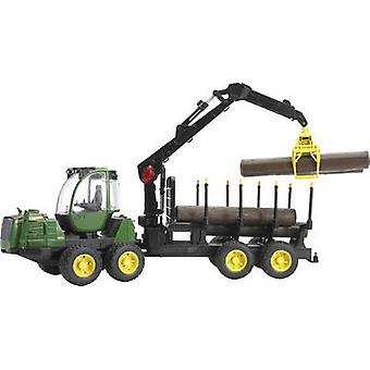 Brother John Deere 1210 E Ruckezug with 4 logs and timber grab