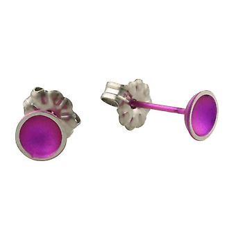 Ti2 Titanium Tiny Dome Stud Earrings - Candy Pink