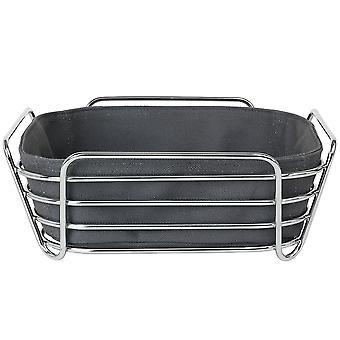 Bread basket large steel wire chrome cotton insert color magnet
