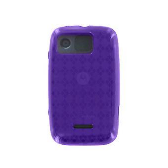 Verizon Motorola Citrus WX445 hoogglans Silicone Case (paars) (Bulk verpakking)