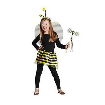 Bees set kids Deluxe 4pcs headband wings rock bar child costume Carnival