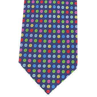 Knightsbridge Neckwear Multi Spot Silk Tie - Blue/Multi-colour