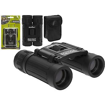 Mini Compact Foldable Binoculars 8 x Zoom 21mm Coated Lenses With Carry Case