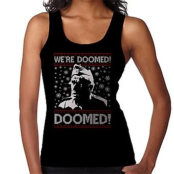 Dads Army Were Doomed Christmas Knit Pattern Women's Vest