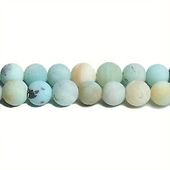 Strand 38 + Multicolour amazonitt 10mm frostet vanlig runde perler CB31194-4