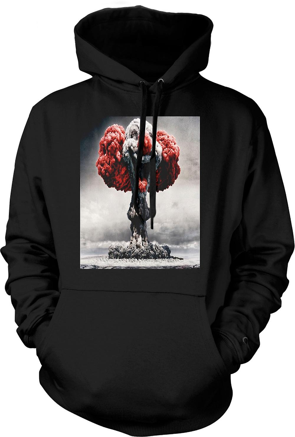 Mens Hoodie - Nuclear Explosion Clown Face
